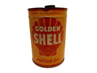 GOLDEN SHELL MOTOR OIL IMPERIAL GALLONS CAN