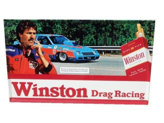 WINTSTON DRAG RACING CIGARETTE S/S ADV. SIGN
