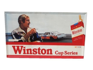 WINTSTON CUP SERIES NASCAR CIGARETTE ADV. S/S SIGN