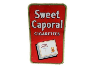 1947 SWEET CAPORAL CIGARETTES SST. SIGN