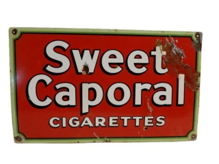 SWEET CAPORAL CIGARETTES SSP SIGN