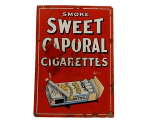 SMOKE SWEET CAPORAL CIGARETTES SSP SIGN