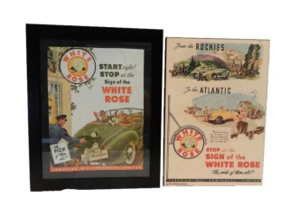 GROUPING OF 2 VINTAGE WHITE ROSE S/S  ADVERTISING