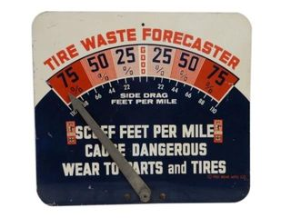 1961 BEAR TIRE D/S PAINTED METAL WASTE FORECASTER