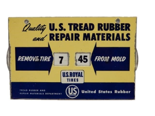 U.S. ROYAL TIRES TREAD RUBBER & REPAIR TIMER