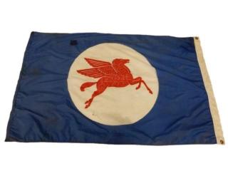 MOBILOIL PEGASUS S/S POLYESTER FLAG