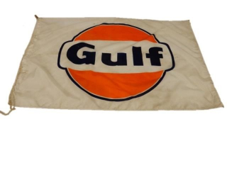 GULF OIL D/S NYLON NYL-GLO FLAG