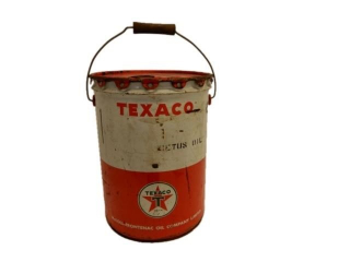 TEXACO CETUS OIL 5 IMPERIAL GALLONS CAN