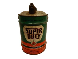 SUPERTEST SUPER DUTY MOTOR OIL 5 IMP. GAL. CAN