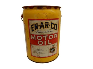 1953 EN-AR-CO MOTOR OIL IMP. 5 GALLONS CAN