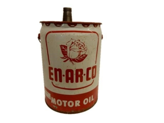 1962 EN-AR-CO MOTOR OIL 5 IMP. GALLONS CAN
