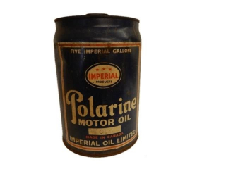IMPERIAL 3 STAR POLARINE MOTOR OIL 5 IMP. GAL. CAN