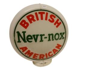 BRITISH AMERICAN NEVR-NOX GAS PUMP GLOBE- 1 LENSE