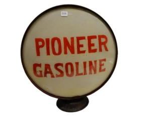PIONEER GASOLINE GAS PUMP GLOBE - 1 LENSE ONLY