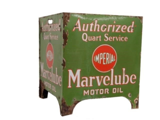 IMPERIAL MARVELUBE MOTOR OIL PORC. BOTTLE RACK