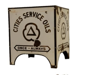 CITIES SERVICE OILS PORC. OIL BOTTLE RACK