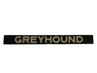GREYHOUND S/S  ALUM. LETTERS /PLASTIC BACKING SIGN
