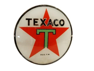 TEXACO BLACK T GAS PUMP GLOBE GLASS LENSE