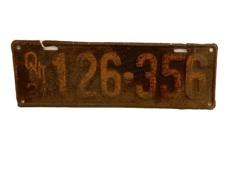 1921 ONTARIO SST EMBOSSED  LICENSE PLATE