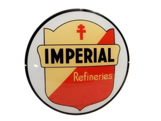 IMPERIAL REFINERIES GAS PUMP GLOBE GLASS LENSE