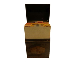 RARE 1938 PENNZOIL CAR LUBRICATION CHART BOX