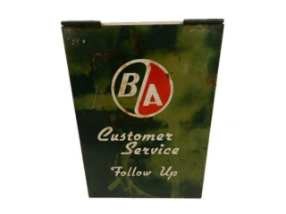 1950'S B/A (GREEN/RED) CUSTOMER SERVICE METAL BOX