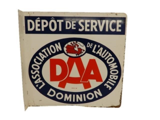 1981 DOMINION AUTOMOBILE SERVICE METAL FLANGE (FR)