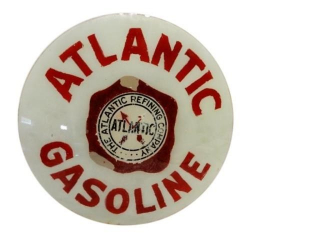 ATLANTIC GASOLINE GAS PUMP GLOBE GLASS LENSE