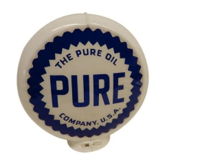 PURE OIL COMPANY GAS PUMP GLOBE / ONE LENSE ONLY