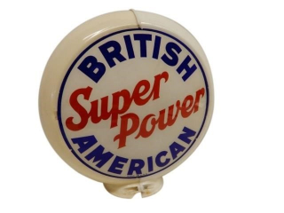 BRITISH AMERICAN SUPER POWER GAS PUMP GLOBE