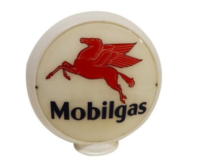 MOBILGAS PEGASUS GAS PUMP GLOBE