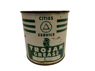 CITIES SERVICE TROJAN GREASE A 5 LBS CAN