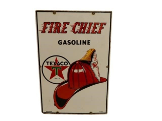 1954 TEXACO FIRE-CHIEF GASOLINE SSP PUMP PLATE