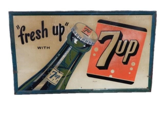 FRESH UP WITH 7UP SST EMBOSSED SIGN