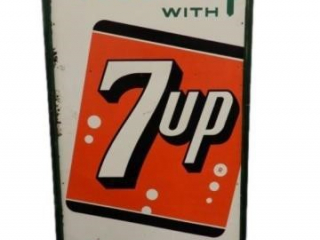 FRESH UP WITH 7UP SST FRAMED SIGN