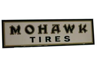 MOHAWK TIRES SST EMBOSSED SIGN/ ORIGINAL BOX / NOS
