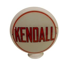 KENDALL MILK GLASS GAS PUMP GLOBE