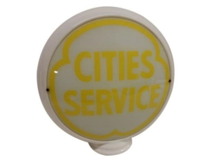 CITIES SERVICE MILK GLASS GAS PUMP GLOBE