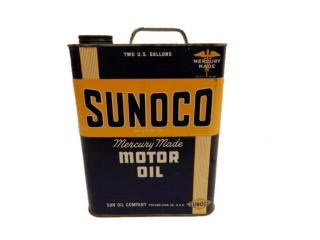 SUNOCO MOTOR OIL TWO U.S. GALLONS CAN