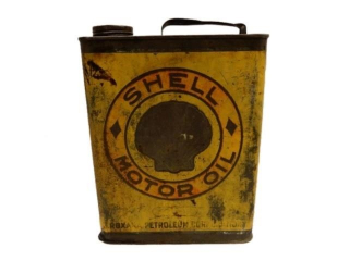 RARE EARLY SHELL MOTOR OIL U.S. GALS. CAN