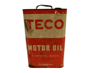 TECO MOTOR OIL 8 IMPERIAL QUARTS CAN