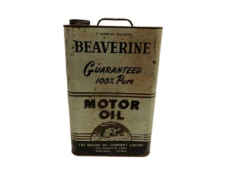 RARE BEAVERINE MOTOR OIL 2 IMPERIAL GALLONS CAN