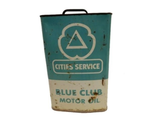 CITIES SERVICE BLUE CLUB MOTOR OIL 2 IMP. GAL. CAN