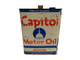 CAPITOL MOTOR OIL MEDIUM TWO U.S. GALLONS CAN