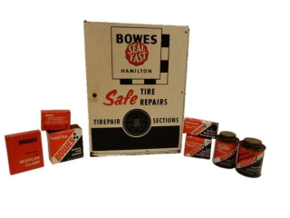 BOWES SEAL FAST TIRE REPAIRS CABINET / CONTENTS