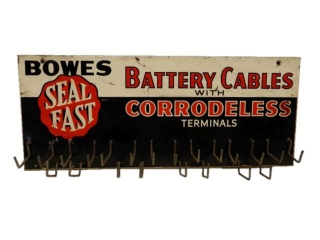 BOWES SEAL FAST BATTERY CABLES TIN RACK