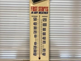 Vintage AC Delco Fast Start Batteries Thermometer