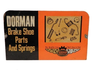 DORMAN PRODUCTS BRAKE SHOE PARTS RACK TOP SIGN