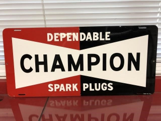NOS original Champion Spark Plus Sign