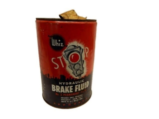 1949 WHIZ HYDRAULIC BRAKE FLUID 5 IMP. GAL. CAN